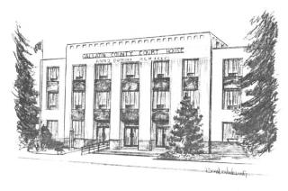 Gallatin County Courthouse Sketch