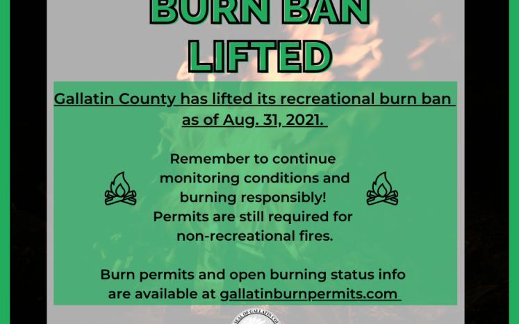 Burn Ban Lifted